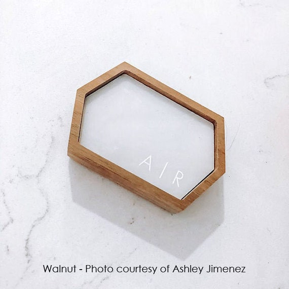 Stretched Hexagon Wanderweg Shop Personalize Marble Ring Dish  Ring Holder  Jewelry Tray