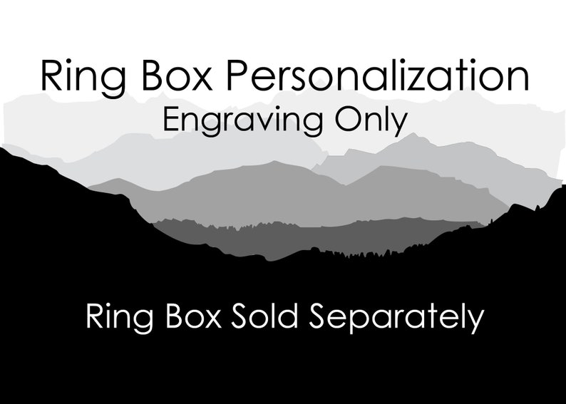 Personalization on Ring Boxes  Engraving Only  One Side image 0