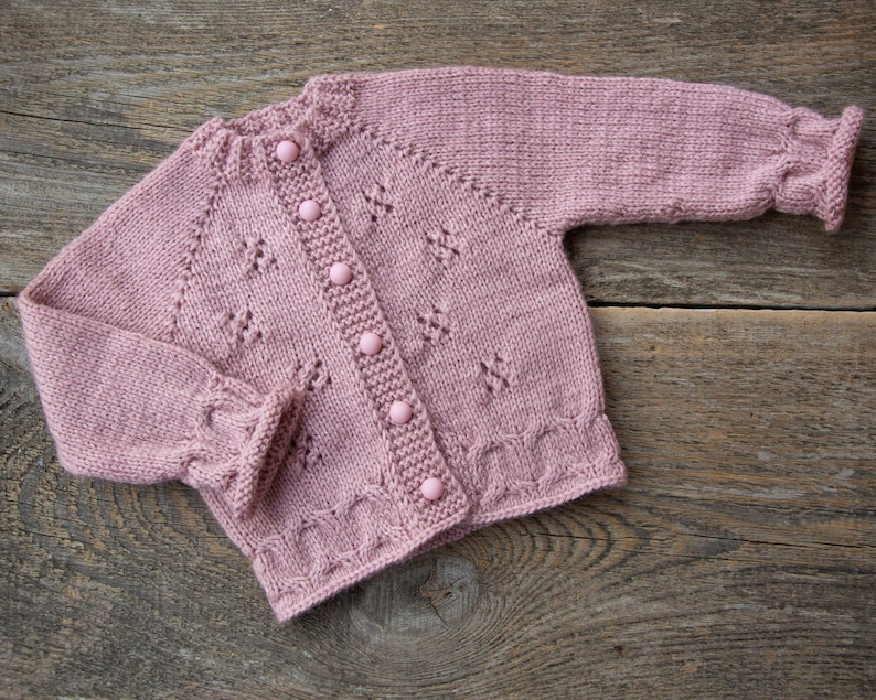 Clothing, Shoes & Accessories Baby Hand Knitted Cardigans Soft And Light Girls' Clothing (newborn-5t)