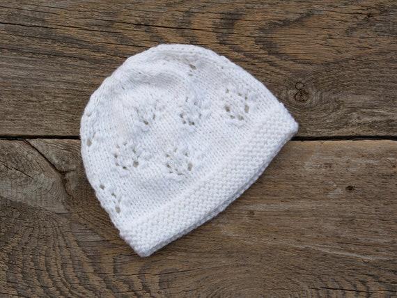 verrückter Preis tolle Preise Neueste Mode Weiße Kinder Hut Baby Taufe Hut Wolle Baby Mütze stricken weiße Mütze Baby  Mädchen Mütze Mädchen stricken Hut weiß geschnürt Mütze Kinder Wollmütze