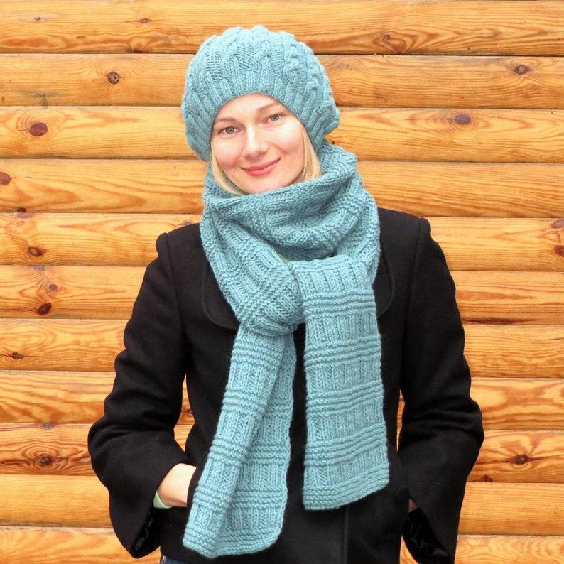 db9a61f86dfa4 Long knit scarf wool knit scarf women wool scarf chunky knit | Etsy