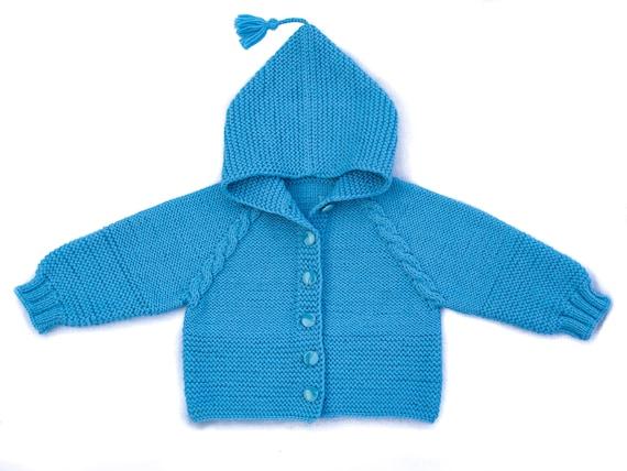 Baby Kapuzen Pullover stricken Babypullover stricken Baby | Etsy