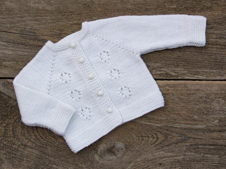 b2f83ac5f White kids sweater baby christening sweater baby white jacket