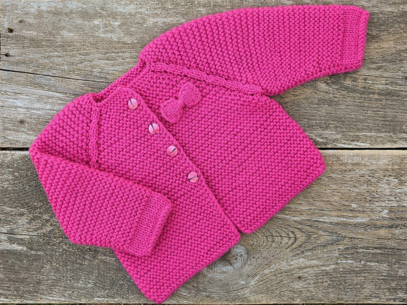7b928defa35a Baby girl cardigan chunky knit sweater baby girl sweater