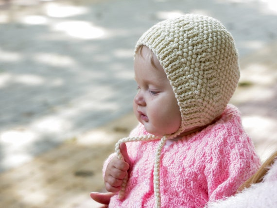 Kids knitted hat tie baby bonnet hat baby wool hat baby girl  dd37126afd3