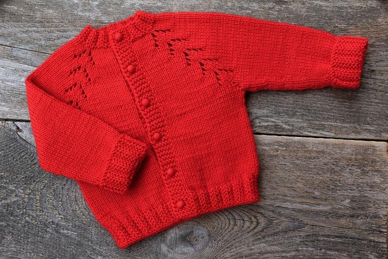 d7df5fd34cbd Gestrickte Baby Pullover Rot Weihnachten Strickjacke Weihnachten Baby  Outfit Kinder roten Pullover Hand stricken Mantel stricken Baby Jacke Baby  ...