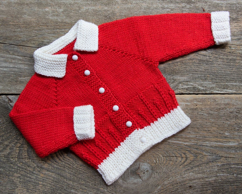 47790c1bd5daa Père Noël pull rouge Noël tenue Noël photo prop bébé en tricot