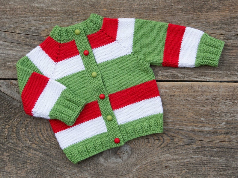 Baby Kersttrui.Kinder Kerst Trui Christmas Baby Outfit Brei Baby Trui Baby Etsy