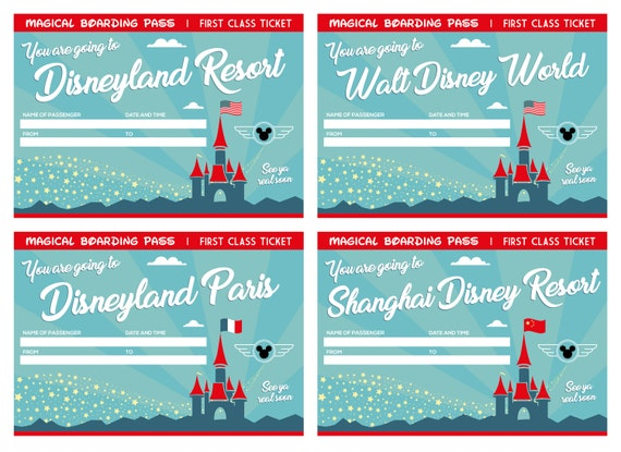 12 printable tickets for all disney world and disneyland etsy