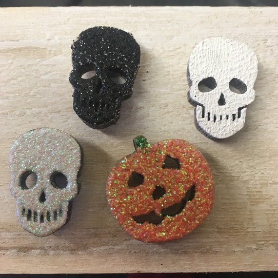 Halloween Fridge Magnets, Halloween Party Favours, Halloween Decorations, Goth Wedding Favours, Alternative Wedding Favours, Fridge Magnets by Etsy