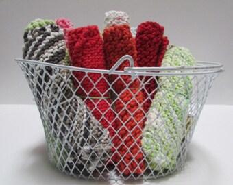 Small Knit Washcloth   Multipurpose   100% Handmade & Homemade