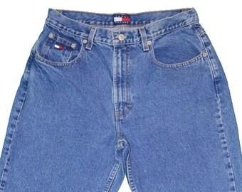 TOMMY HILFIGER High-Waisted Medium Wash Denim Jeans Women's Size 12 - Vintage / Retro / 1990's