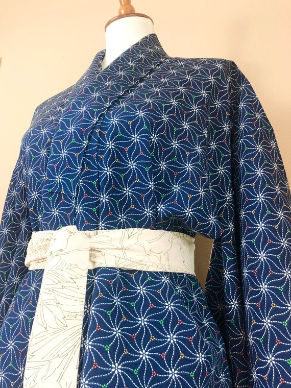 Vintage Silk Kimono Robe - women's clothing/silk r