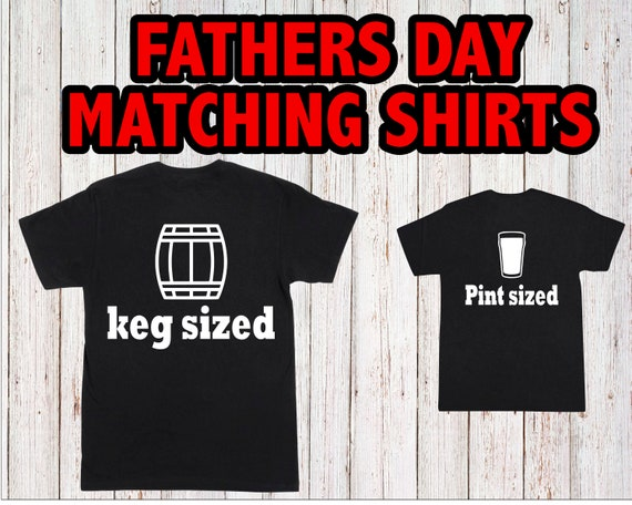 Father Son Matching Shirts TWO SHIRTS Funny Dad Baby