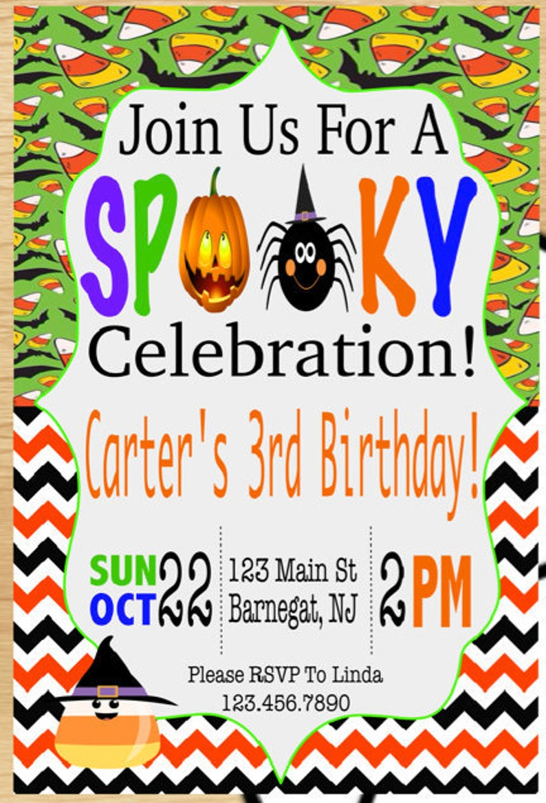 Printable Halloween Party Invitations Birthday