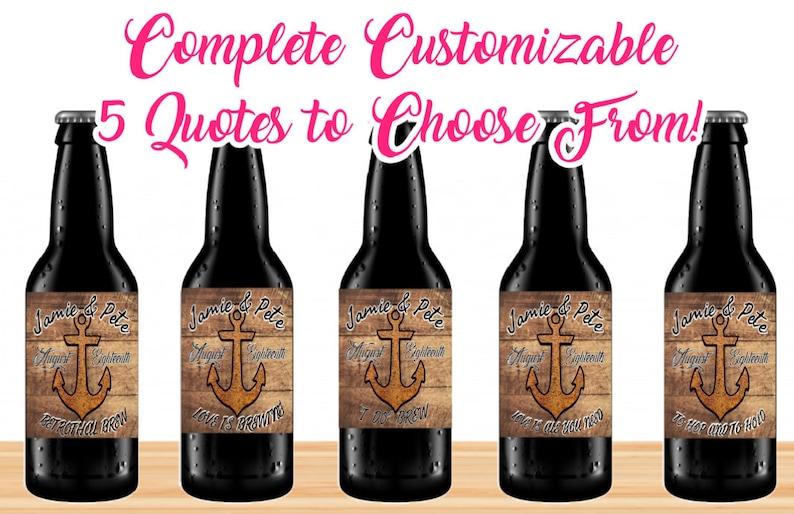 set of beer labels custom wedding beer labels choose