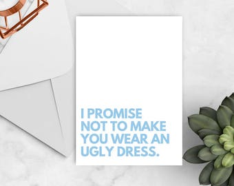 Funny Will You Be My Bridesmaid Card, Will You Be My Bridesmaid, Will You Be My Maid of Honor, Bridesmaid Card Set, Bridesmaid Proposal