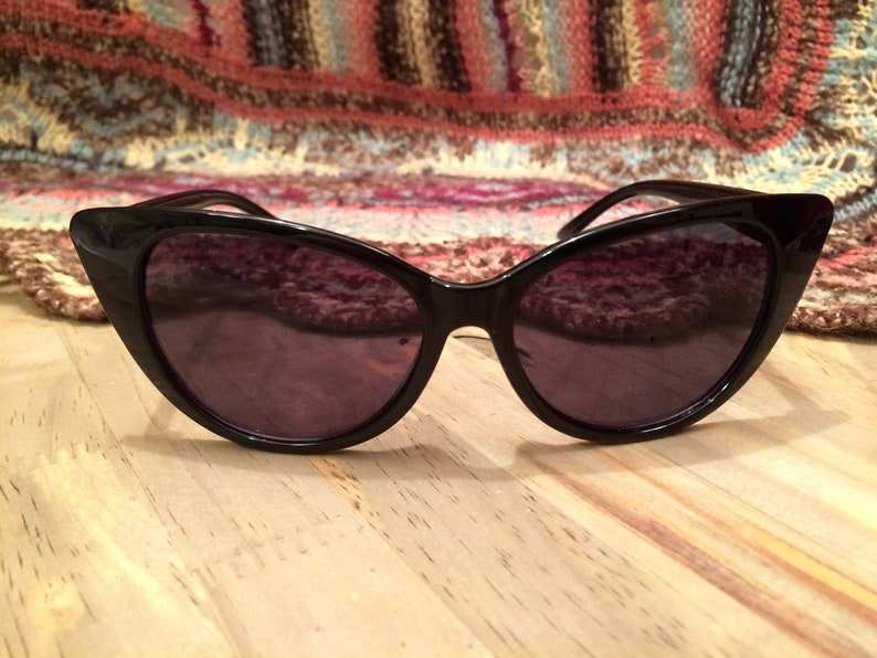 5f691c38c81 Vintage Sunglasses Black Cat Eye Sunglasses Retro Sunglasses