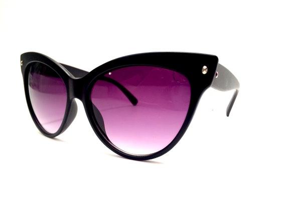 96fc5bd1ac Cat Eye Sunglasses Black Cateye Glasses Retro Lolita Sunnies Summer  Festival Style Rockabilly