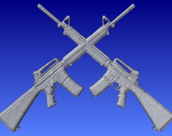 Crossed rifles | Etsy