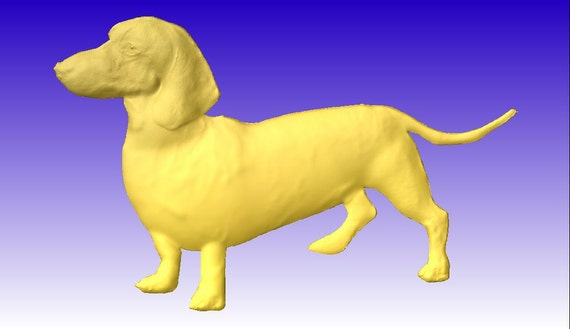 Dackel Hund 3D Vektor Reliefmodell für CNC-Router Projekte   Etsy