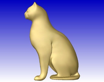 Cat 2 CNC stl relief model