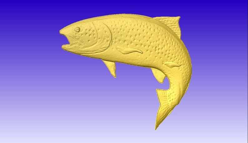 Wood fish carvings and wood fish sculptures and fish reproductions