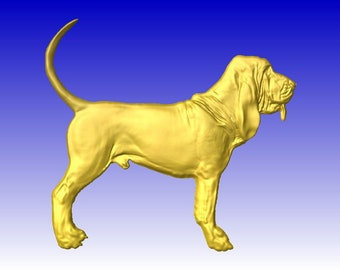 Bloodhound CNC Relief Model in stl file format for cnc routers or cnc clipart