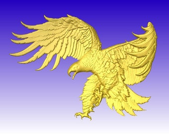 Eagle on Attack CNC Vector Relief Model in stl file format