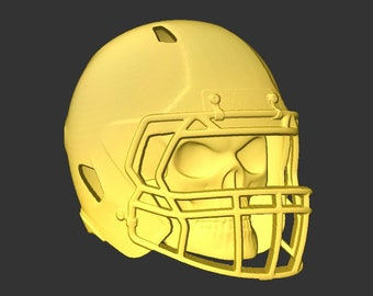 Skeleton Football Helmet in stl file format for cnc routers and models
