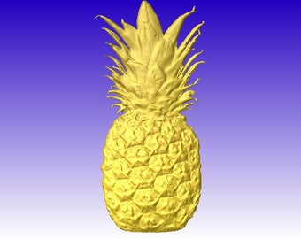 Pineapple Vector Relief Model for cnc routers or sign carving pattern in stl file format