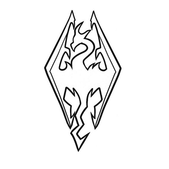Elder Scrolls Skyrim Inspired Imperial Dragon Decal