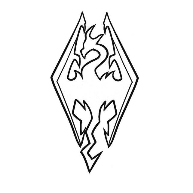 Elder Scrolls Skyrim Inspired Imperial Dragon Decal Etsy