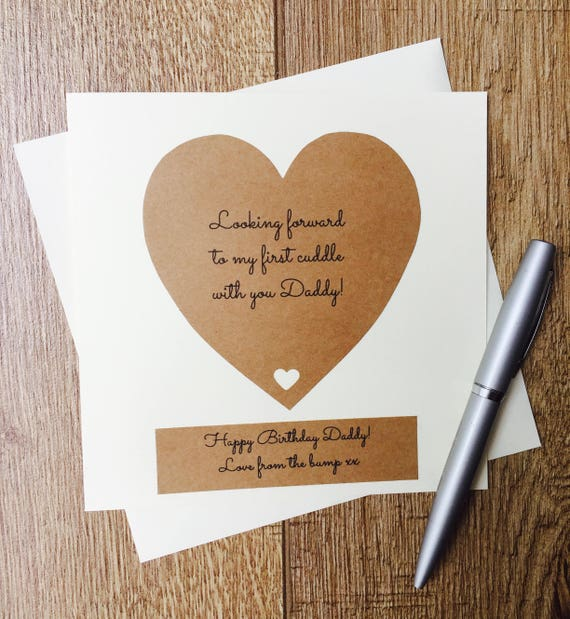 Handmade Birthday Card For Daddy From The Bump Father To Be Etsy