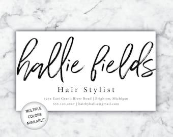 Business Cards Hairstylist   Hairdresser Business Cards   Hair Stylist Business Cards with Name  Business Cards Hair  Business Card Template