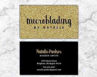 microblading business cards makeup artist business cards gold glitter business cards business cards hair and makeup gold glitter