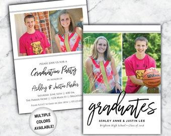 twins graduation etsy