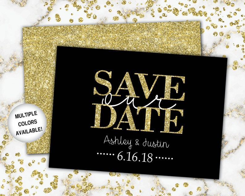 photograph regarding Free Printable Save the Date Templates identify Preserve the Day Black Gold Gold Preserve the Day Printable Help you save the Day  Help you save the Day Template Gold Glitter No Visualize No Photograph
