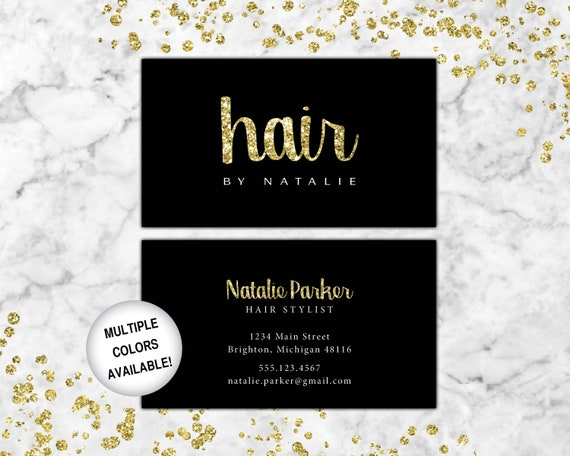 Business Cards Hairstylist Hairdresser Business Cards Black And Gold Business Cards Business Cards Hair Business Card Template Hair