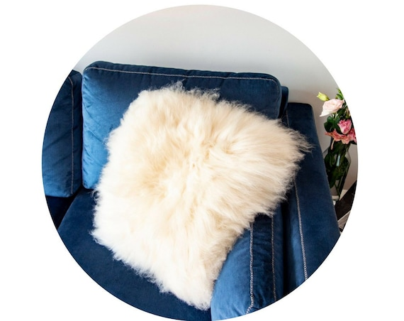 Square Sheepskin pillows.