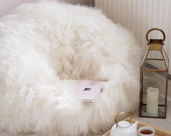 Sheepskin Beanbag -  Very big & Amazingly comfortable! One of a kind!