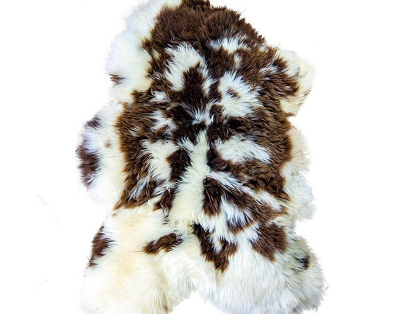 Natural Jacob Rare Breed Sheepskin Rug | BIG 120 cm