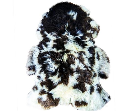 Natural Jacob Rare Breed Sheepskin Rug   HUGE 130 cm