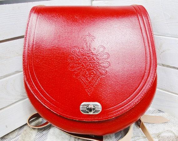 Real Leather Bag. Durable Leather Handbag. Red Natural Leather Shoulder Bag. Genuine Leather Handbags.