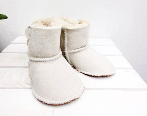 Real Leather Kids' Shoes. Genuine Leather And Natural Sheepskin Fur. Furry Sheepskin Kids Slippers.