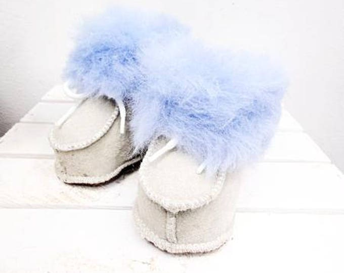 Featured listing image: Real Leather Kids' Shoes. Genuine Leather & Sheepskin Slippers For Kids. Leather Kids' Booties. Sheepskin Slippers. Sheepskin Kids' Shoes.