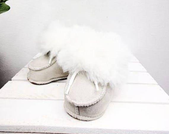 Real Leather Kids' Shoes. Sheepskin Unisex Kids' Slippers. Genuine Leather & Sheepskin Kids' Booties. Sheepskin Boots For Kids.