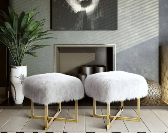 Sheepskin Stool Covers!  Square / Rectangle/Round.  Natural Sheepskin Chair Pads. Christmas Gift. Genuine Sheepskin Stool Covers. Gift Idea.