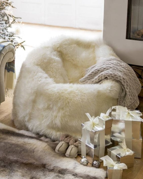 Very big sheepskin beanbag!!! Long, soft and fluffy hair! Amazingly comfortbale! One of a kind!!