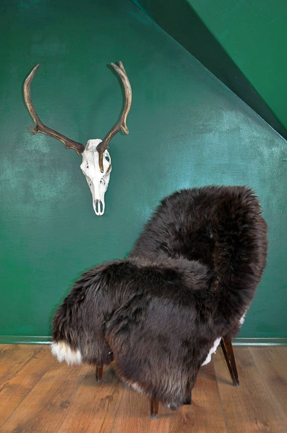 Natural Brown Sheepskin Rug. About 148cm long! One&Olny!